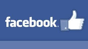 Graphic of facebook logo with a thumbs ups symbol beside the word facebook.