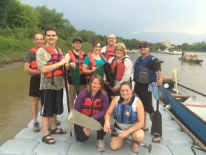 """Photo of VIRN""""s paddlers on the dock after a great time on the water."""