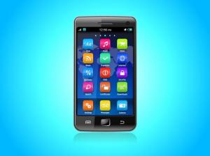 Graphic of Smartphone with icons.